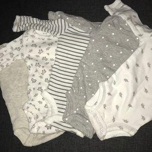 Five Long Sleeved Onesies